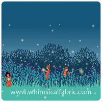 Wee Wander - Summer Night Lights in Twilight - Border Yardage
