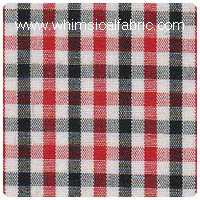 "Red & Black 1/8"" Tattersall Check - Chubby Fat Quarter"
