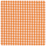 "Fabric Finders - Tangerine 1/16"" Gingham - Chubby Fat Quarter"