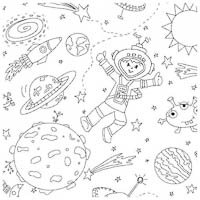 Color Me Fabric - To The Moon And Back - Yardage