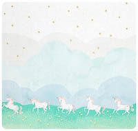 Magic! - Unicorn Parade - Border Print Yardage