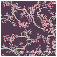 VOILE - Wonderland - Enchanted Leaves Plum