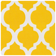 Fabric Finders - Yellow Quatrefoil - Chubby Fat Quarter