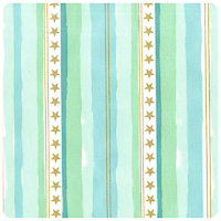 Magic! - Stars & Stripes in Aqua - Fat Quarter