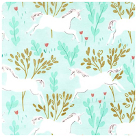 Magic! - Unicorn Forest in Aqua - Yardage