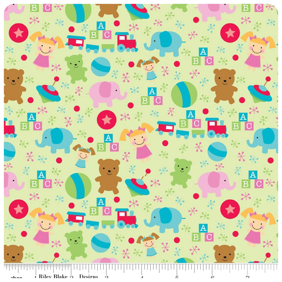 Santa's Workshop - Green Toys FLANNEL - Yardage