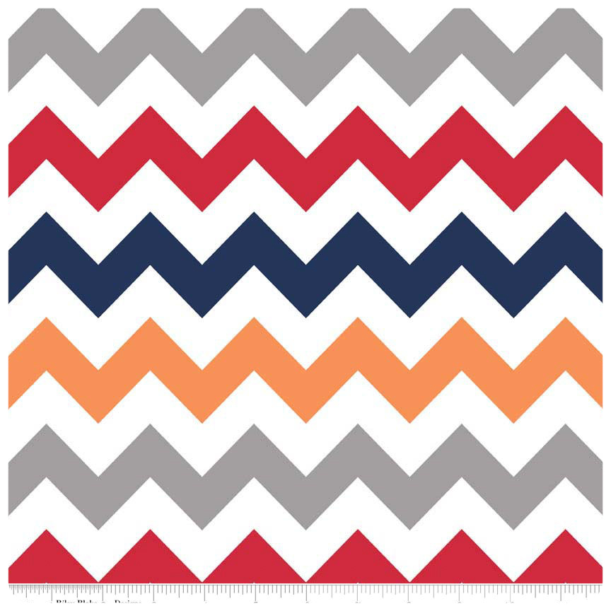 Boy Medium Chevron by Riley Blake Designs - Fat Quarter