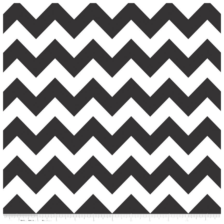 Black Medium Chevron by Riley Blake Designs - Fat Quarter