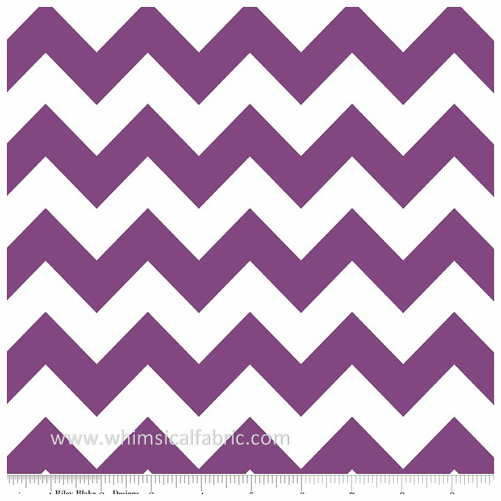 Purple Medium Chevron by Riley Blake Designs - Fat Quarter