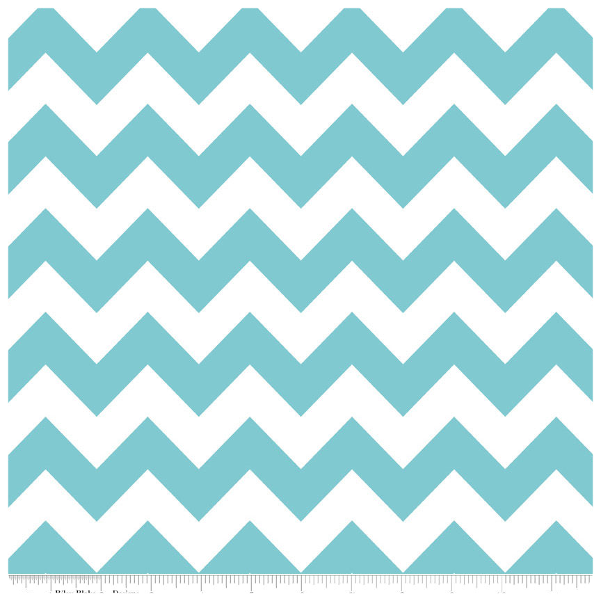Aqua Medium Chevron by Riley Blake Designs - Fat Quarter