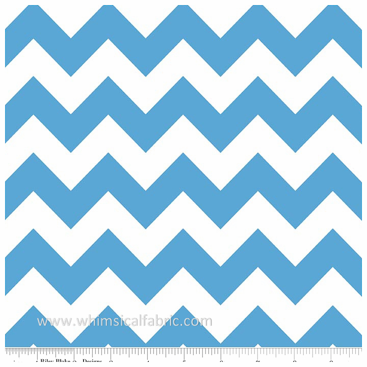 Medium Blue Medium Chevron by Riley Blake Designs - Fat Quarter