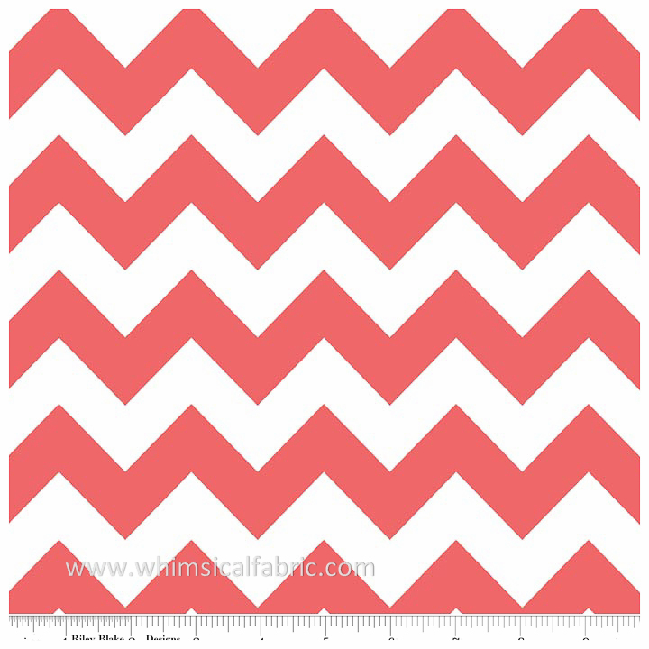 Rouge Medium Chevron by Riley Blake Designs - Fat Quarter