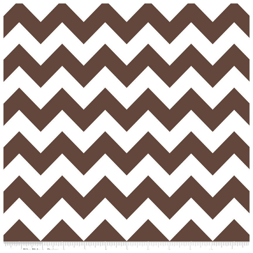 Brown Medium Chevron by Riley Blake Designs - Fat Quarter
