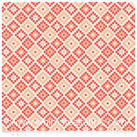 KNIT - Woodland Spring - Coral Geometric