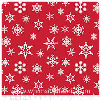 Christmas Basics - Snowflakes in Red - Fat Quarter