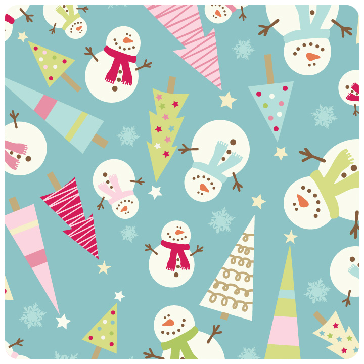 Be Merry - FLANNEL Blue Main Fabric - Yardage