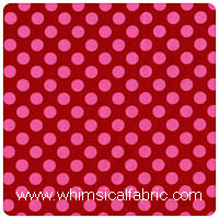 Michael Miller - Ta Dot in Berry - Fat Quarter