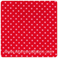Michael Miller - Dumb Dot in Poppy - Fat Quarter