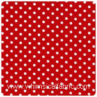 Michael Miller - Dumb Dot in Red - Fat Quarter