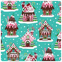 Michael Miller - Christmas - Gingerbread Houses - Yardage