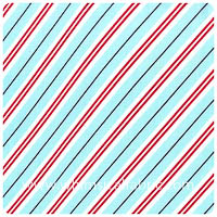 Michael Miller - Christmas - Candy Cane Stripe Winter - Fat Quar