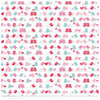 Lovey Dovey - FLANNEL - Love Birds - Yardage