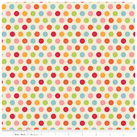 Just Dreamy 2 - FLANNEL - Cream Dots - Yardage