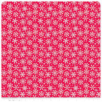 Santa Express - FLANNEL - Red Snowflake - Yardage