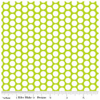 Honeycomb Dot - FLANNEL - Lime - Yardage