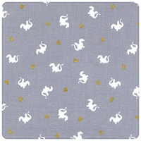 Magic! - Baby Dragon in Grey - Fat Quarter