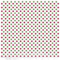 KNIT - Holiday Dots on White - Christmas Basics - Yardage