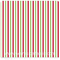 KNIT - Holiday Stripes on White - Christmas Basics - Yardage