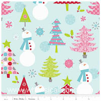KNIT - Blue Snowman - Christmas Basics - Yardage