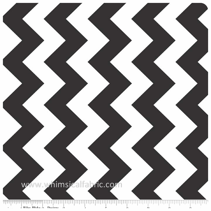 "Black 58"" Wide Medium Chevron by Riley Blake Designs - Yardage"