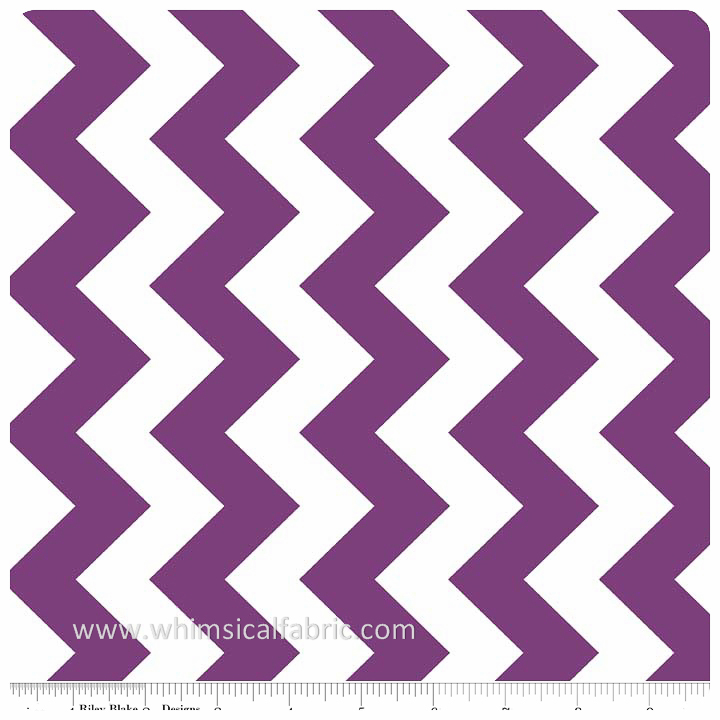 "Purple 58"" Wide Medium Chevron by Riley Blake Designs - Yardage"