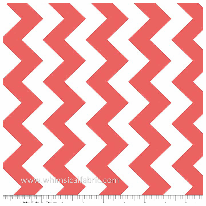 "Rouge 58"" Wide Medium Chevron by Riley Blake Designs - Yardage"