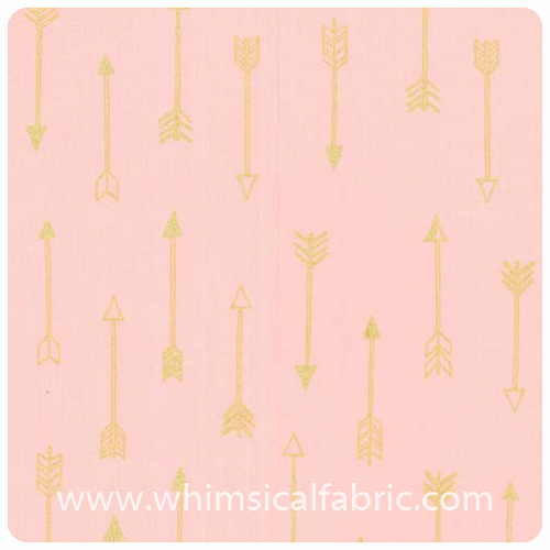 Arrow Flight - Arrows Blush Metallic - Fat Quarter