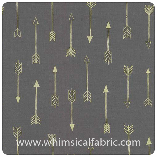 Arrow Flight - Arrows Coin Metallic - Fat Quarter