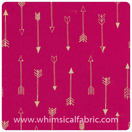 Arrow Flight - Arrows Fuschia Metallic - Fat Quarter