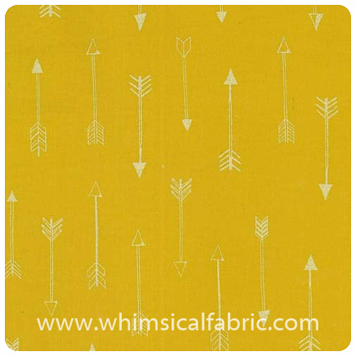 Arrow Flight - Arrows Gold Metallic - Fat Quarter