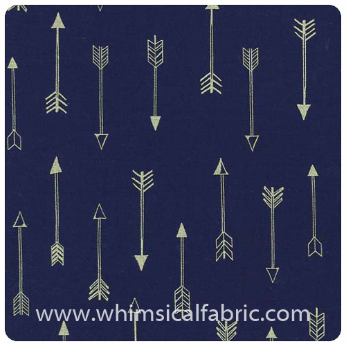 Arrow Flight - Arrows Midnight Metallic - Fat Quarter