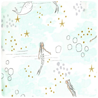 Magic! - Mermaid Magic in Mist - Fat Quarter