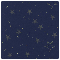 Magic! - Lucky Stars in Navy - Yardage