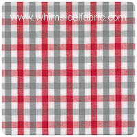 "Red & Grey 1/8"" Tattersall Check - Chubby Fat Quarter"