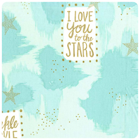 Magic! - You Are Magic in Turquoise - Fat Quarter