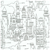 Magic! - Castle Plans in White - Yardage