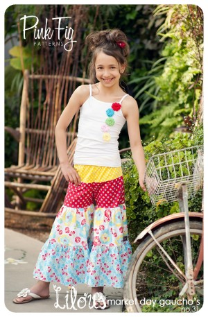 The Lilou Market Day Gaucho's by Pink Fig - size 2T thru 10 yrs