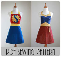 NEW Super Wonder Mom Apron PDF - Modern Vintage Designs