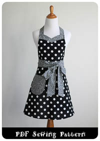 Sweet and Sassy Apron PDF - Modern Vintage Designs