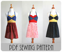 NEW Wonder Hero Apron PDF - Modern Vintage Designs